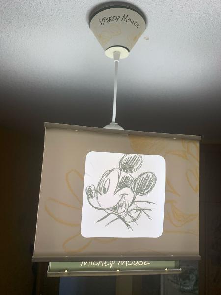 Lámpara techo infantil mickey mouse