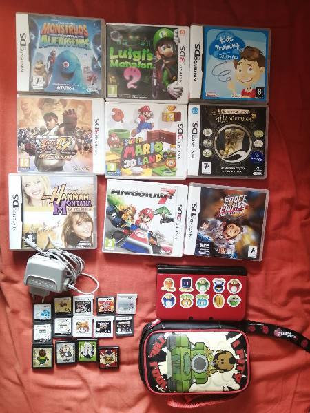 Nintendo 3ds xl + juegos+ funda+ cargador