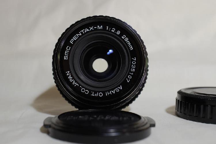 Pentax smc m 28 mm. 2.8 objetivo angular k