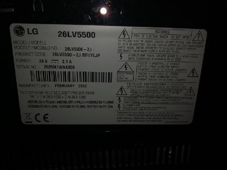 Televisión lg 26lv5500