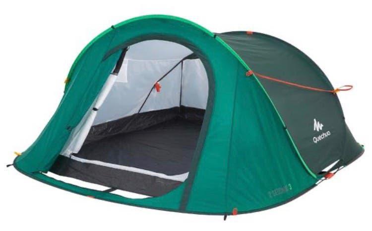 Tienda camping + colchón + extras
