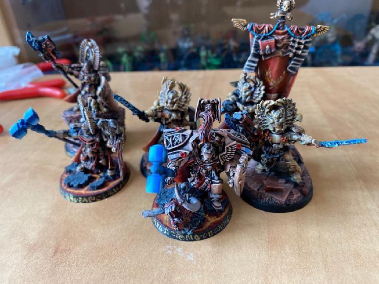 Unidad adeptus custodes - caballeros grises
