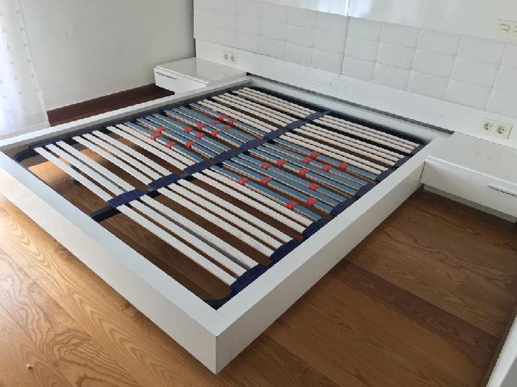 Base cama, somier, mesillas y colchon