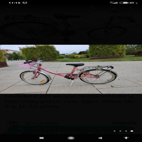 Bicicleta bh prácticamente nueva
