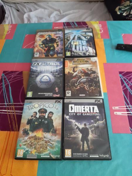 Lote juegos pc 6 por 10€