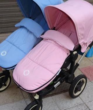 Bugaboo donkey carro gemelar rosa y azul