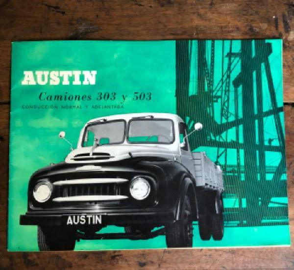 Catálogo camiones austin 303 y 503, en español