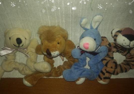 Lote 4 coleteros infantiles niña nuevos