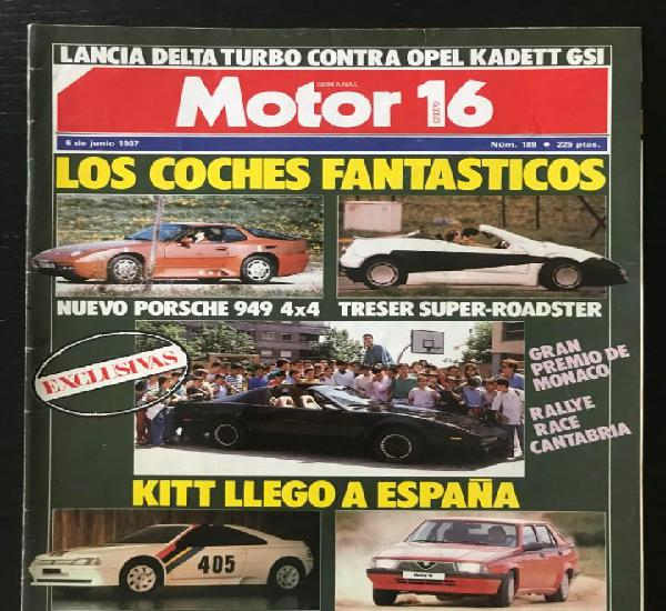 Motor 16 nº 189 - junio 1987 - alfa romeo 75 ts / lancia