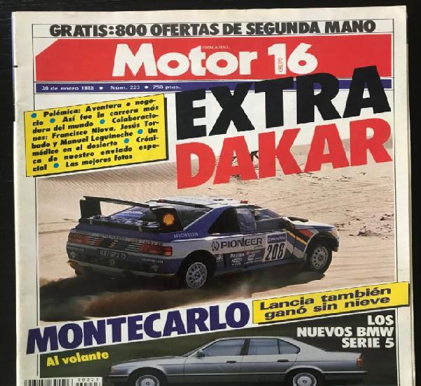 Motor 16 nº 223 - enero 1988 - bmw serie 5 / toyota land