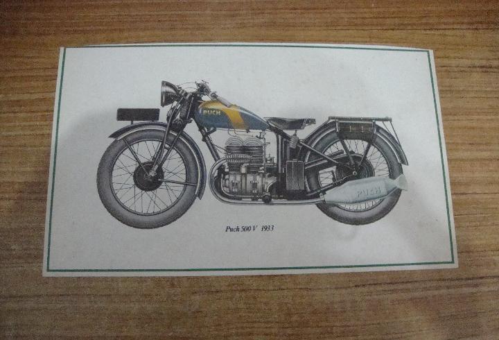 Ref-001) pequeña lamina 37.5 x 22.5 cm. tema motociclismo