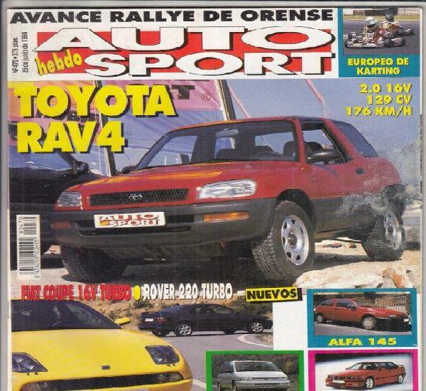 Revista auto hebdo sport nº 470 año 1994. pru: fiat coupe