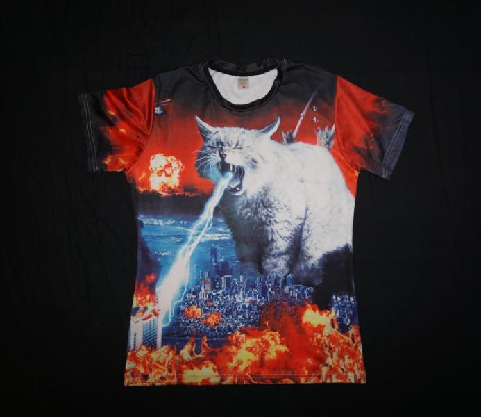 Camiseta gato hombre l xl