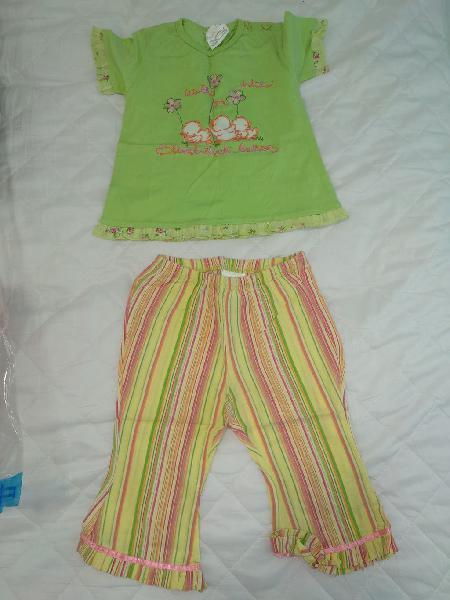 Conjunto camiseta y pantalón verano niña 12 meses