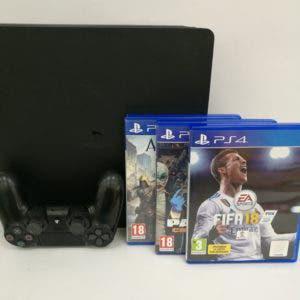 Consolas - ps4 slim 1tb + 3 juegos + mando