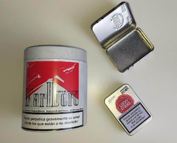 Latas metálicas almacenamiento