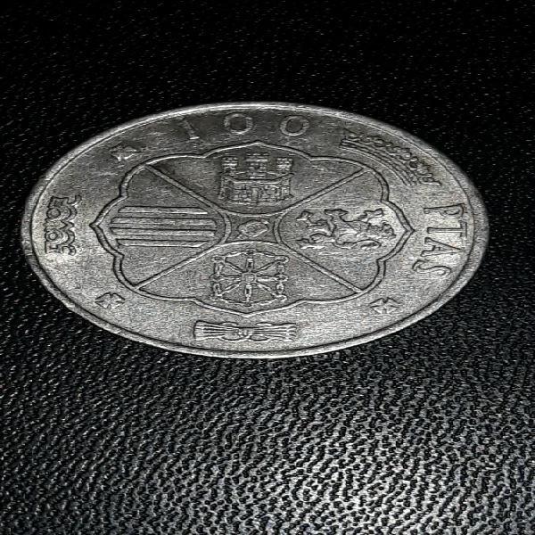 Moneda plata 100 pesetas 1966
