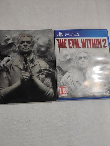 Ps4 the devil within 2 con caja metálica pal usado
