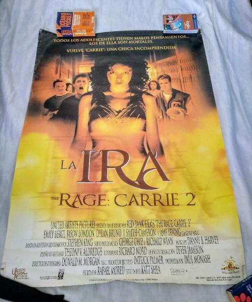 Póster película la ira carrie 2 . año 1999 origina