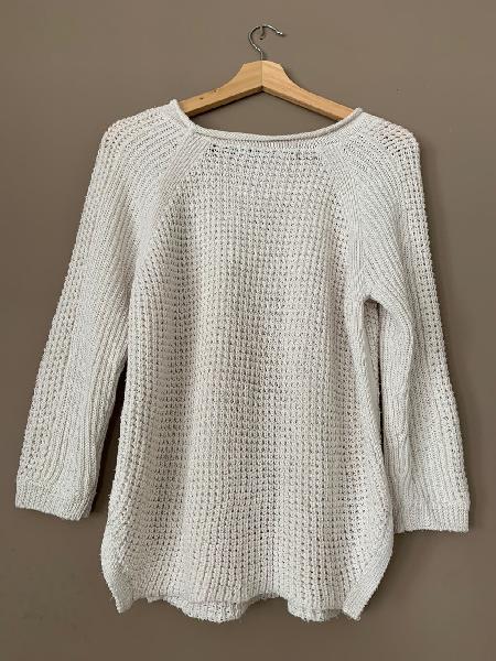 Zara knit - jersey blanco