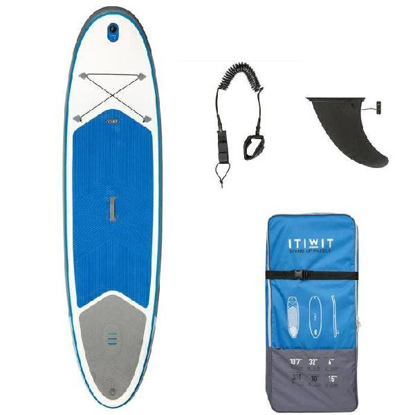 Tabla paddle surf con remo y leash.