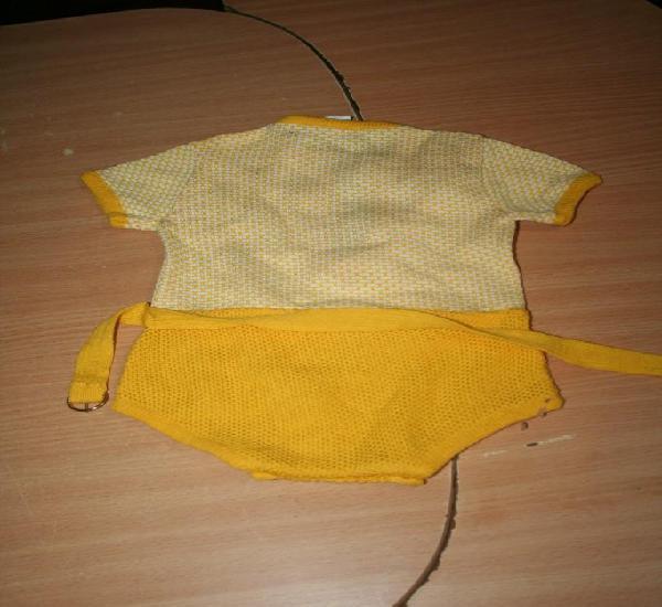 Vestido conjunto amarillo antiguo bebe muñeco reborn