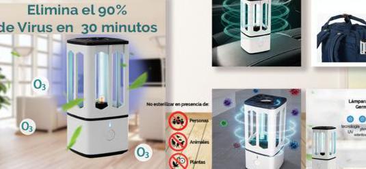 Lampara germicida -desinfectante cubic