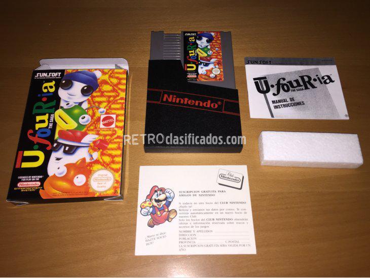 Se vende ufouria juego original nintendo nes nuevo