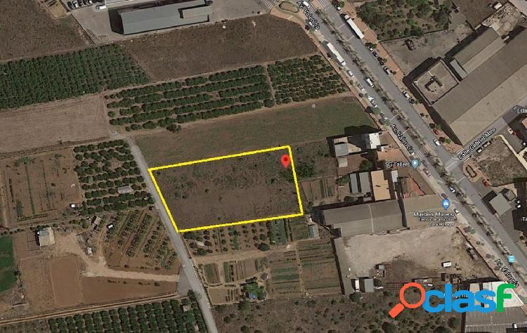 Terreno urbanizable en el verger (alicante)