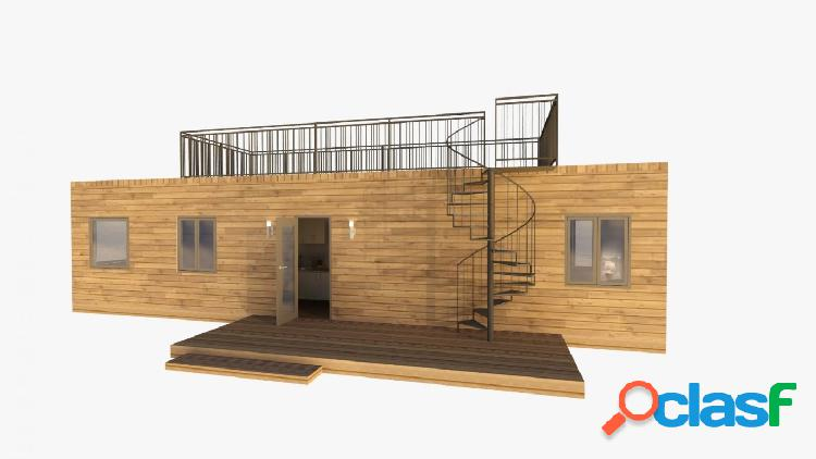 Autopromoción con contenedor de 30 m2 en begues centro