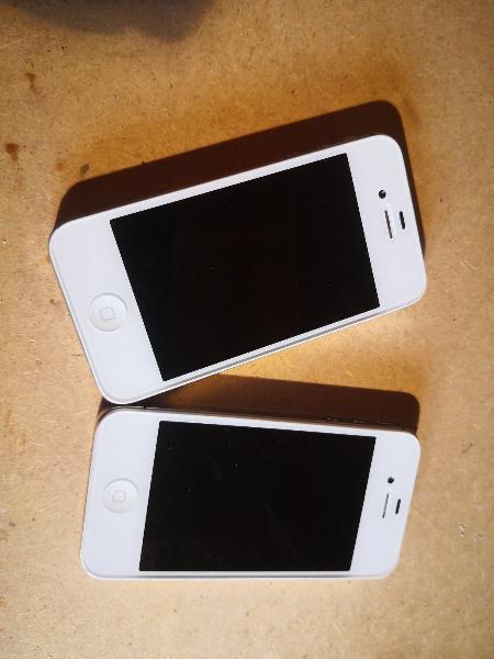 2 uds iphone 4s blancos para piezas, reparaciones