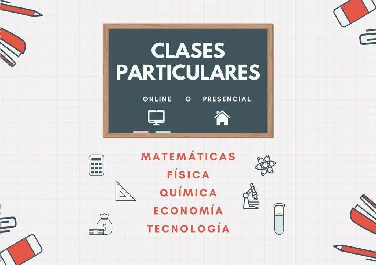 Clases particulares: matemáticas, física, química