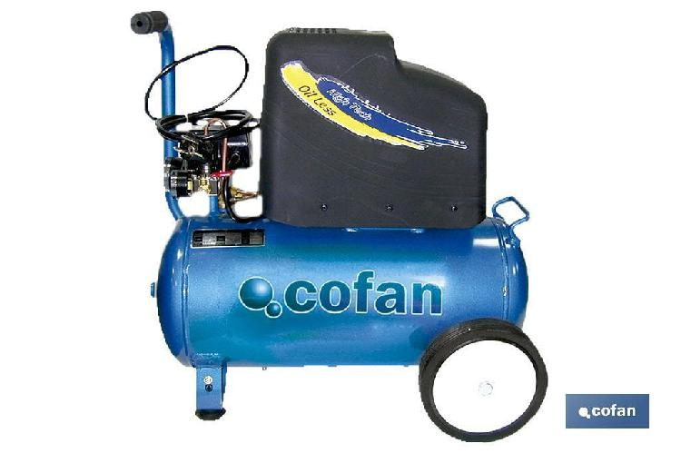 Compresor aire oil less 25 litros 2hp