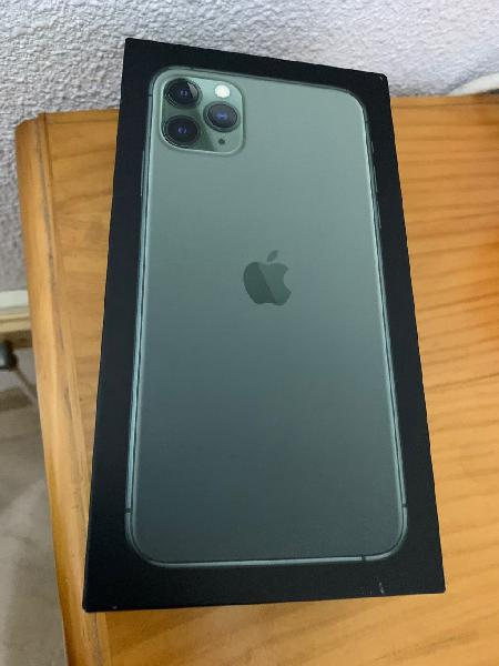 Caja accesorios iphone 11 pro max verde gb 512