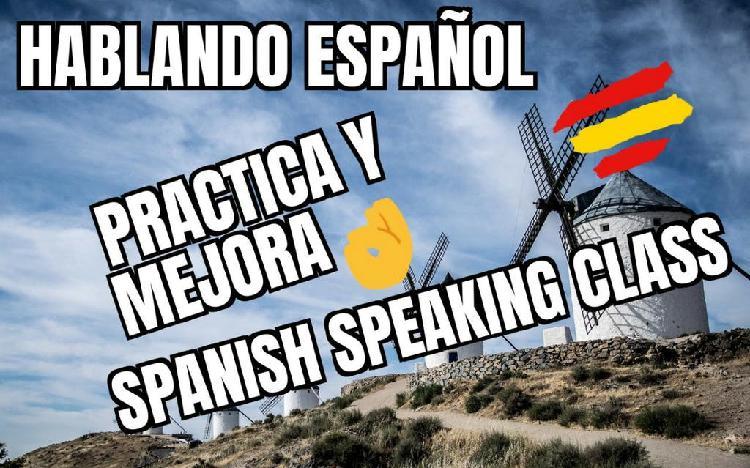 Clases de español, spanish speaking