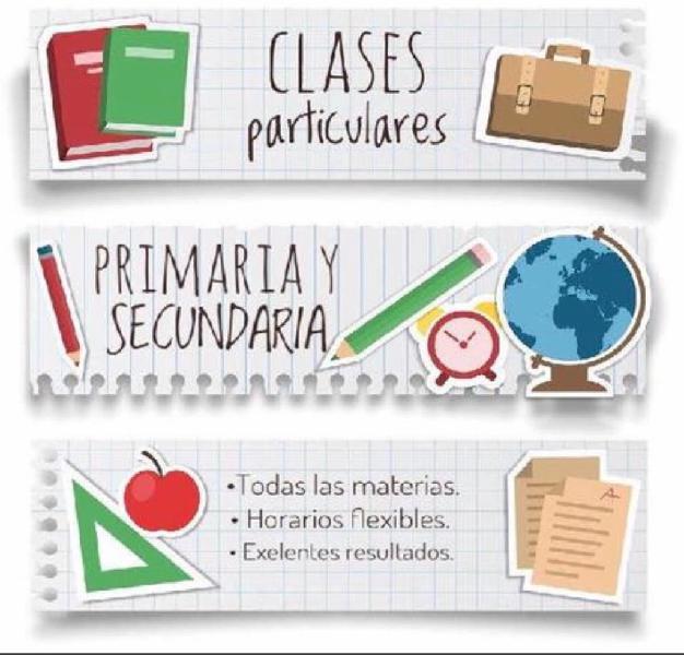 Clases particulares/ apoyo escolar/ refuerzo