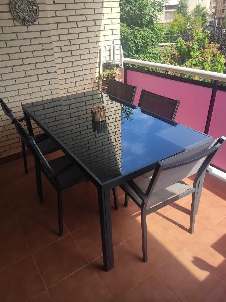 Conjunto mesa terraza / jardín con sillas