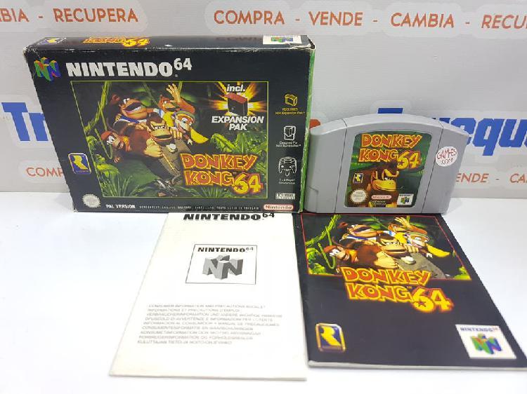 N64/nintendo 64-donkey kong 64 sin expansión pak (