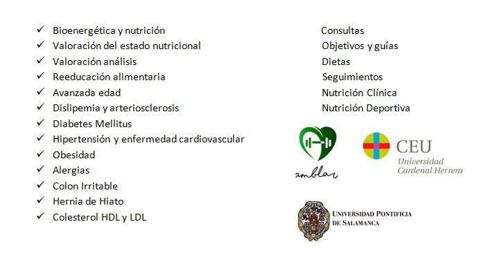 Nutrición y dietética. diferentes especialidades