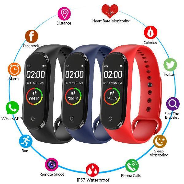 Reloj inteligente unisex a color ritmo cardiaco