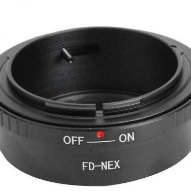 Adaptador objetivos canon fd y fl a sony e