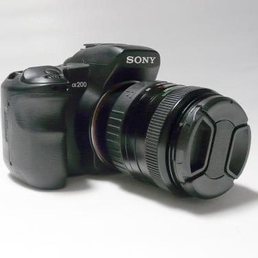 Camara sony alpha 200 28-80mm macro