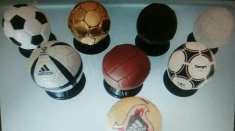 Colección marca mini balón de los mundiales
