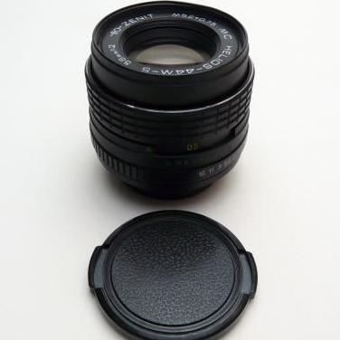 Objetivo 58mm f 1:2 a rosca zenit m44-5