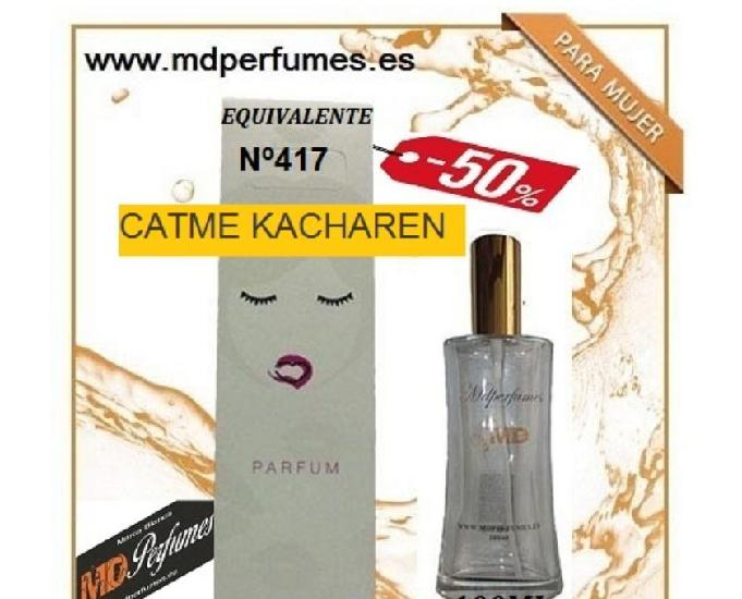 Oferta perfume mujer n 417 catme kacharen alta gama 100ml