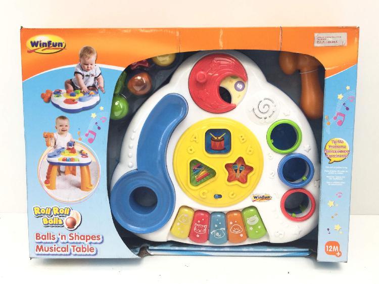 12 % juguetes bebes otros mesa musical
