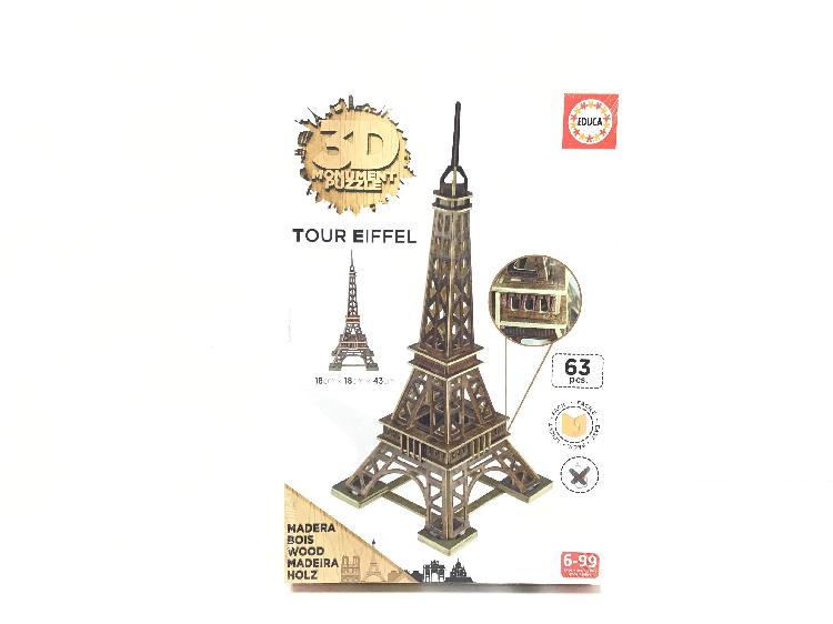 Juego de construccion otros puzzle educa 3d torre eiffel de