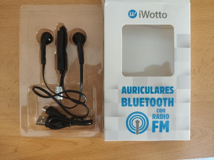Auriculares manos libres bluetooth con radio