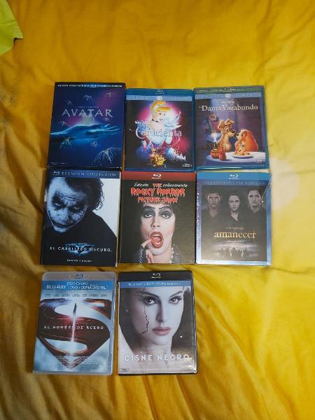 Blu-ray 8 euros la unidad (ver fotos)