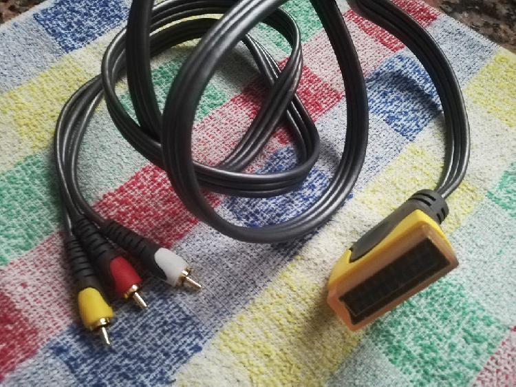 Cable a/v (rca) a euroconector